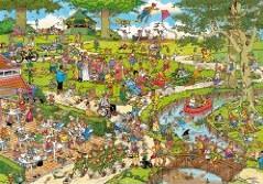 Jumbo Spiele 01496 - Jan van Haasteren: Der Park, 3000 Teile