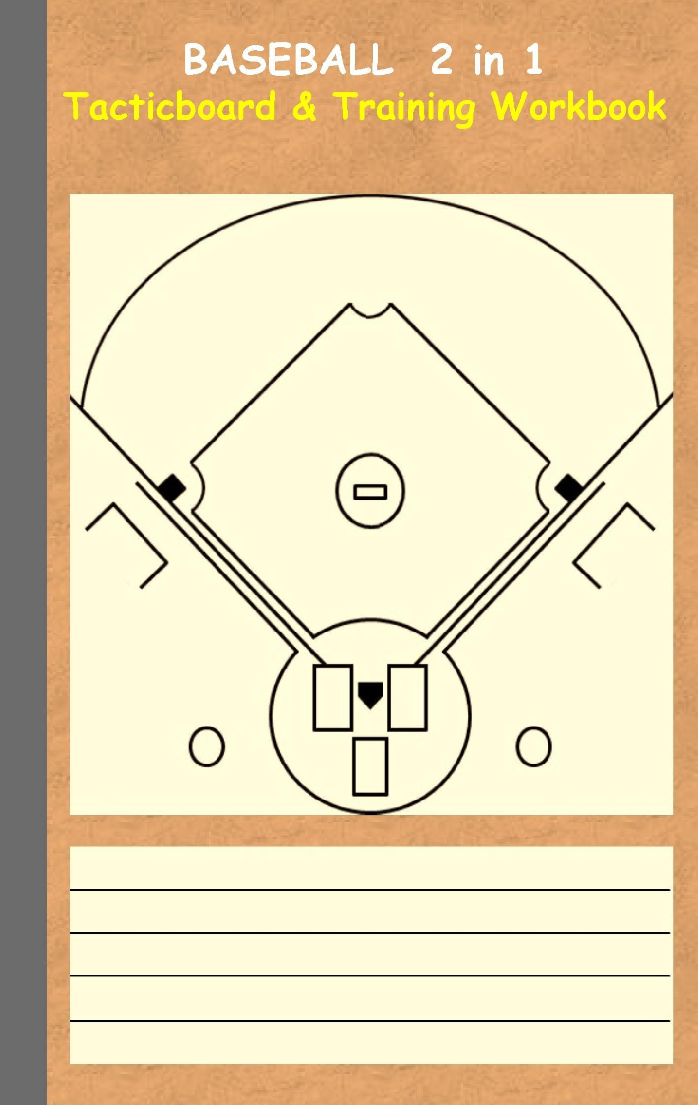 Baseball: 2 in 1 note- and tactic book with dry erase panel in c