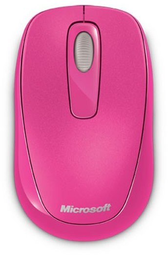 Microsoft Wireless Mobile Mouse 1000 USB, magenta pink