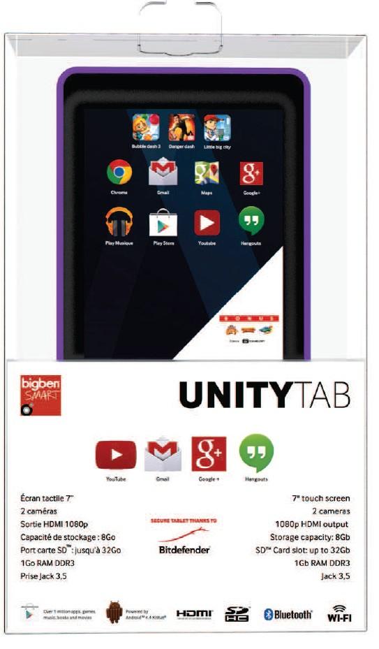 UNITY TAB - Purple - 7 Tablet (ca, 17,7 cm)