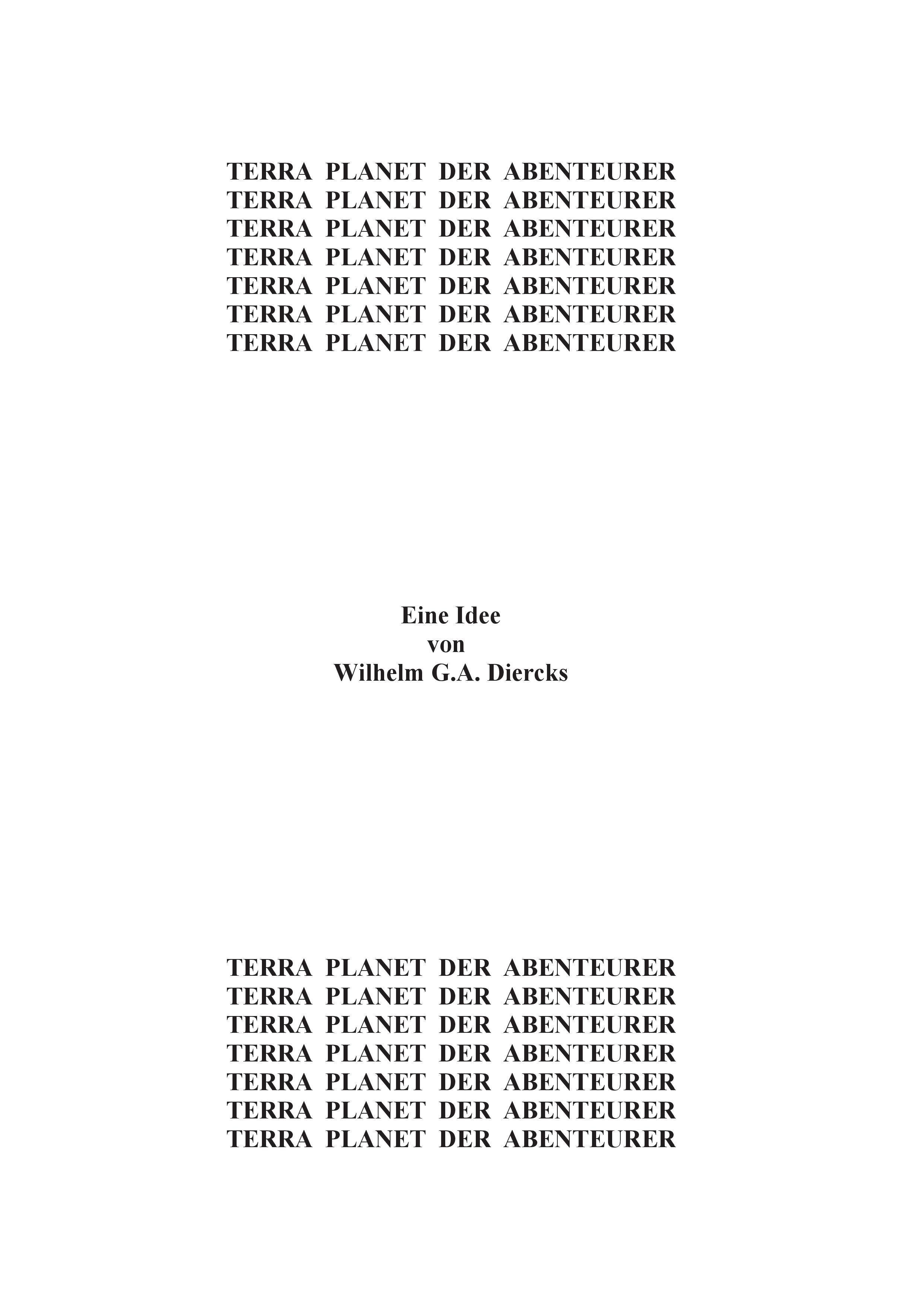 Terra, Planet der Abenteurer