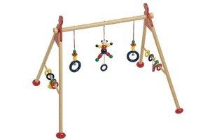 Goki 739414 - Baby-Fit Greif- und Spieltrainer Bär, Holz