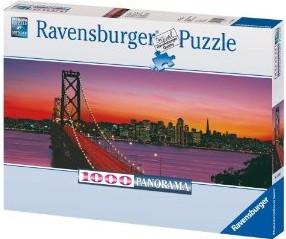 San Francisco, Oakland Bay Bridge bei Nacht. Puzzle 1000 Teile