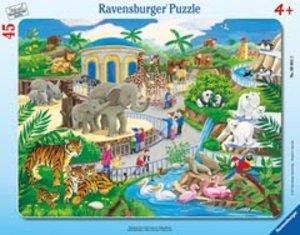 Besuch im Zoo. Rahmenpuzzle