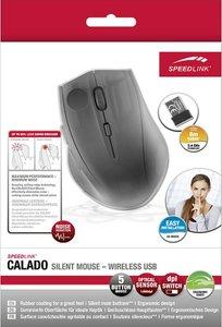 Speedlink CALADO Silent Mouse - Wireless USB, rubber-black