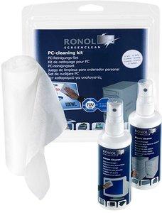RONOL PC-Reinigungs-Set 3-teilig für alle Bildschirme, Bürogerät