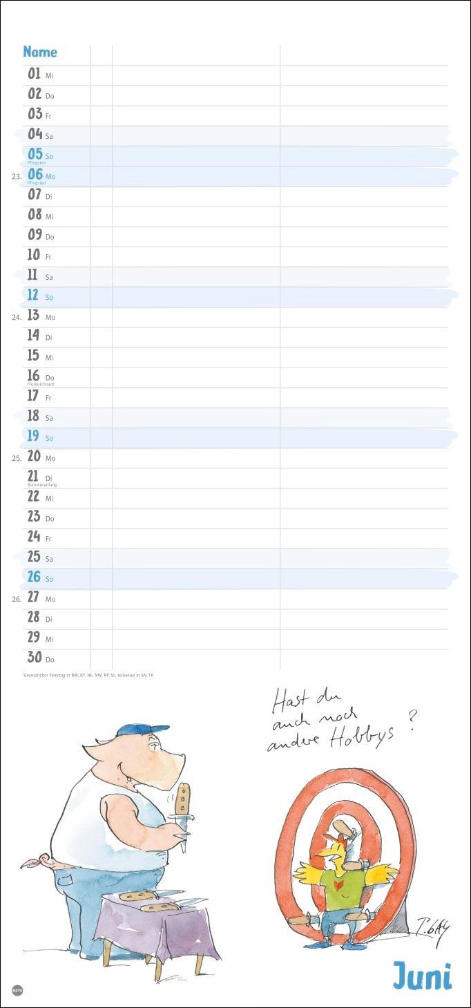 Peter Gaymann: Saumäßig verliebt Planer für zwei Kalender 2022