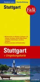 Falk Stadtplan Extra Standardfaltung Stuttgart 1 : 20 000
