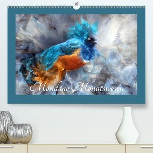 Mondäne Monatswesen (Premium, hochwertiger DIN A2 Wandkalender 2