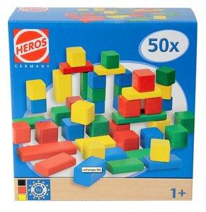 Heros 100021252 - Holzbausteine, 50-teilig