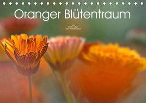 Oranger Blütentraum (Tischkalender 2021 DIN A5 quer)