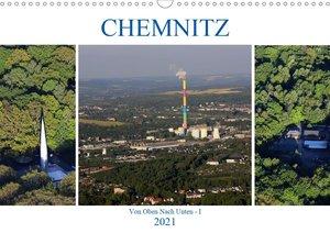 Chemnitz - Von Oben Nach Unten (Wandkalender 2021 DIN A3 quer)
