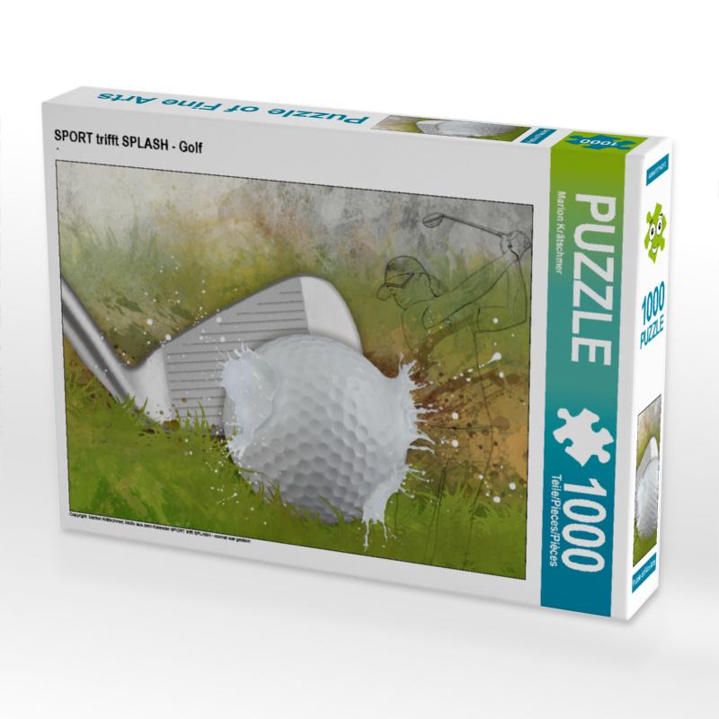 CALVENDO Puzzle SPORT trifft SPLASH - Golf 1000 Teile Lege-Größe