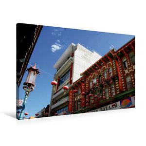 Premium Textil-Leinwand 75 cm x 50 cm quer China Town