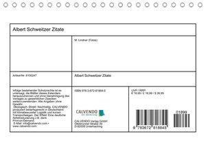 Albert Schweitzer Zitate (Tischkalender 2021 DIN A5 quer)