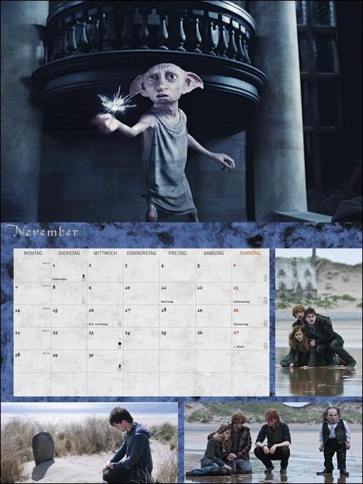 Harry Potter Broschur XL Kalender 2022