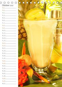 Tropical Cocktails - Erfrischend und fruchtig (Tischkalender 2022 DIN A5 hoch)