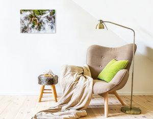 Premium Textil-Leinwand 45 cm x 30 cm quer Neuseeland - Heiße Qu