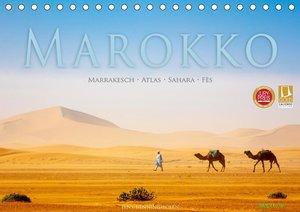 Marokko: Marrakesch, Atlas, Sahara, Fès (Tischkalender 2021 DIN