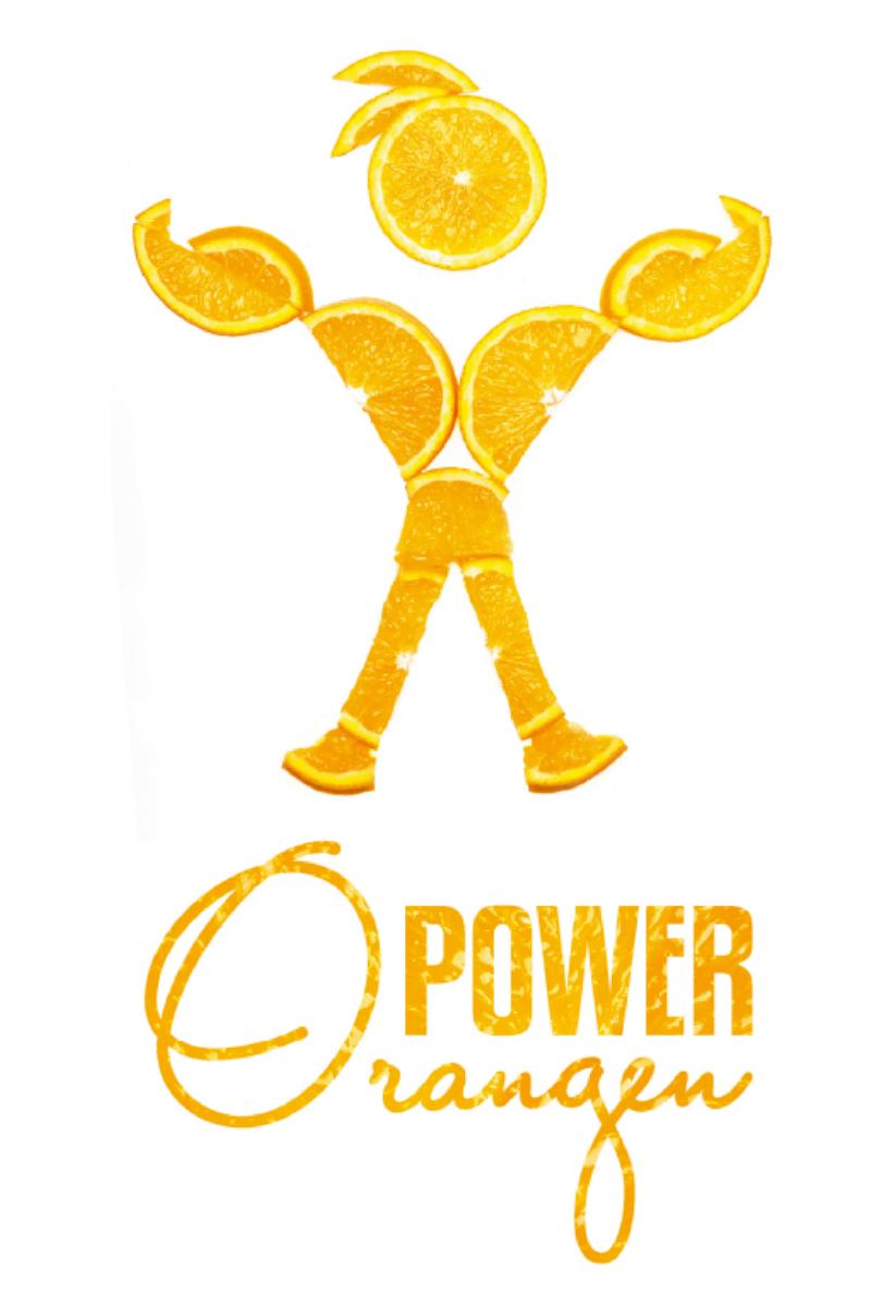 Premium Textil-Leinwand 60 cm x 90 cm hoch OrangenPower - die Kr