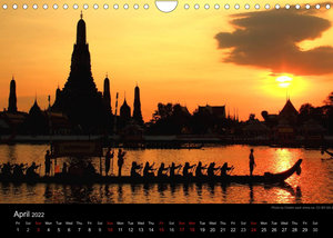 Monuments of Thailand 2022 (Wall Calendar 2022 DIN A4 Landscape)