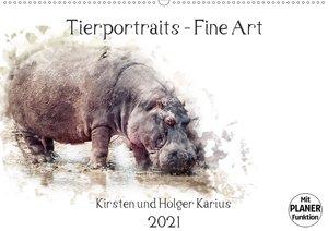 Tierportraits - Fine Art (Wandkalender 2021 DIN A2 quer)