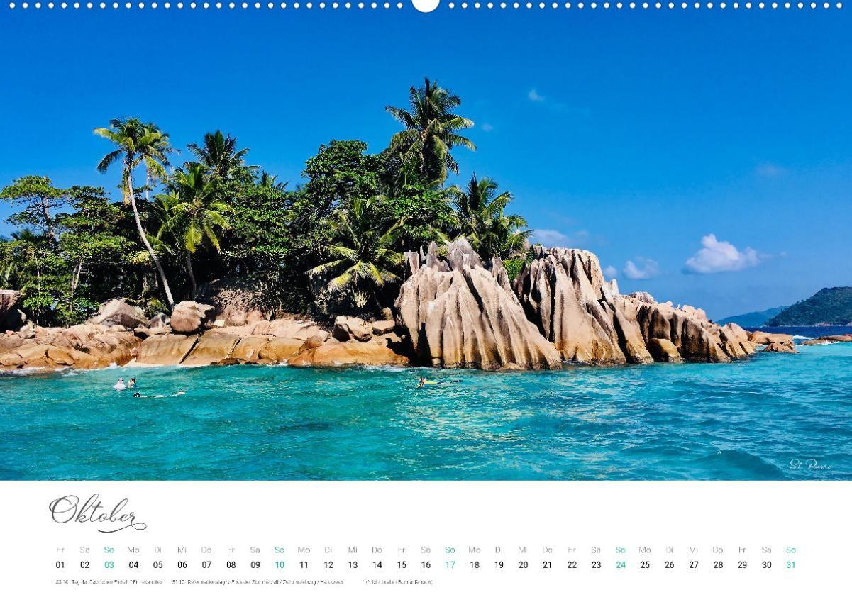 THE BEAUTY OF THE SEYCHELLES ? Seychellen Kalender (Wandkalender
