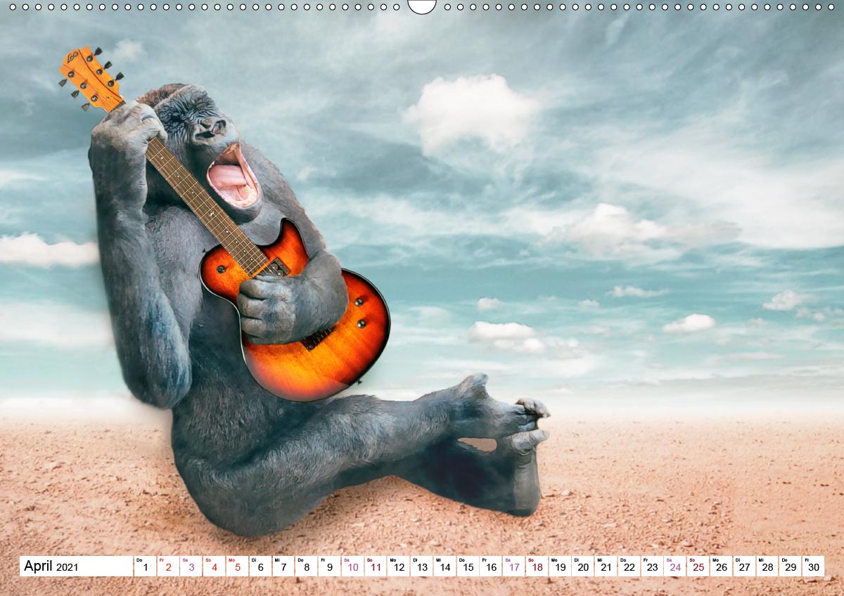 Echt schräg humorvolle Bildmontagen (Wandkalender 2021 DIN A2 qu