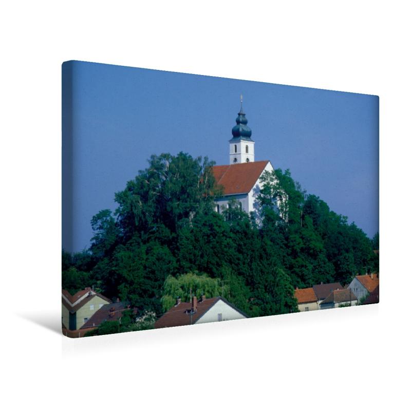 Premium Textil-Leinwand 45 cm x 30 cm quer Frauenbergkirche in H