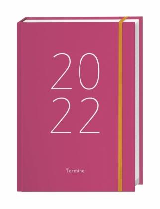 Tages-Kalenderbuch A6, pink Kalender 2022