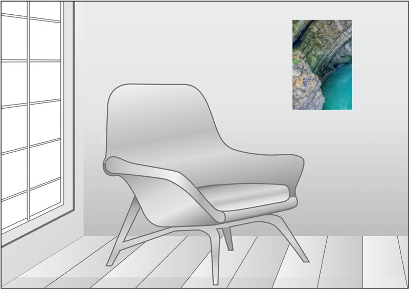 Premium Textil-Leinwand 30 cm x 45 cm hoch Ruhiges Wasserloch