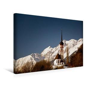 Premium Textil-Leinwand 45 cm x 30 cm quer Inntal Kirche St. Georg