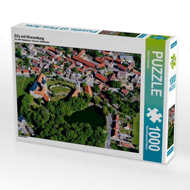 Zilly mit Wasserburg 1000 Teile Puzzle quer