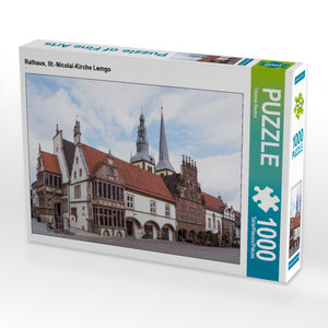 CALVENDO Puzzle Rathaus, St.-Nicolai-Kirche Lemgo 1000 Teile Puzzle quer