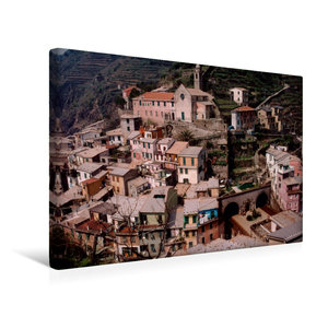 Premium Textil-Leinwand 45 cm x 30 cm quer Cinque Terre K?stenstadt Vernazza, Italien