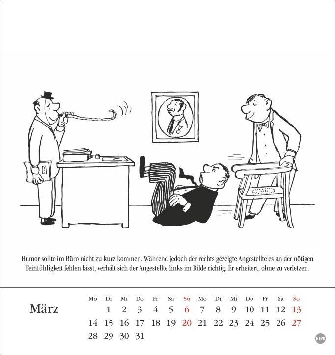 Loriot Postkartenkalender 2022
