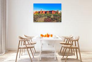 Premium Textil-Leinwand 120 cm x 80 cm quer Australien - Rotes Herz im Zentrum