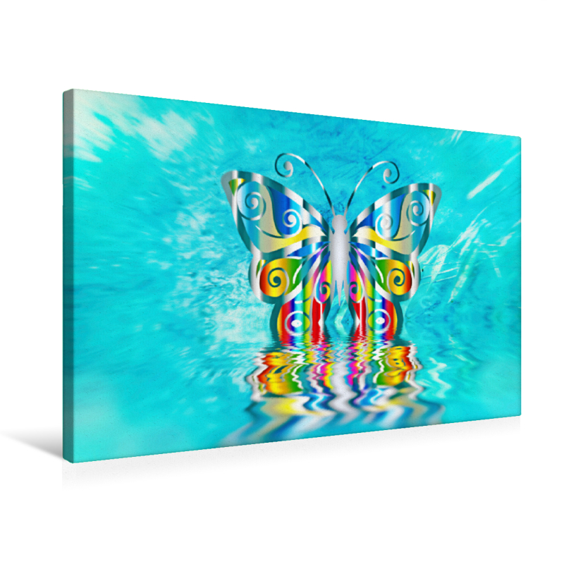 Premium Textil-Leinwand 75 cm x 50 cm quer Schmetterling