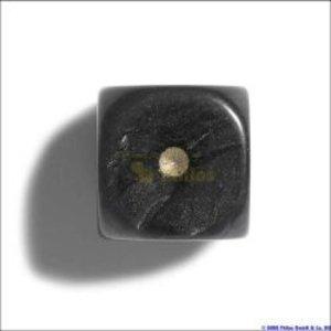 Philos 7103 - Würfel, 12 mm pearl schwarz, 36er Brick