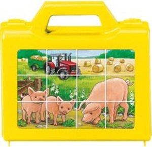 Ravensburger 07471 - Tiere auf dem Bauernhof, Würfelpuzzle, 12 Teile