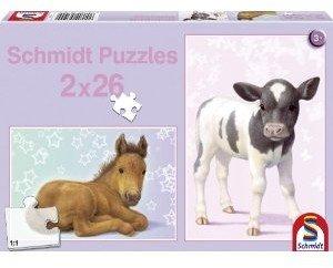 Schmidt Spiele 56100 - Fohlen und Kälbchen, Kinderpuzzle Standar