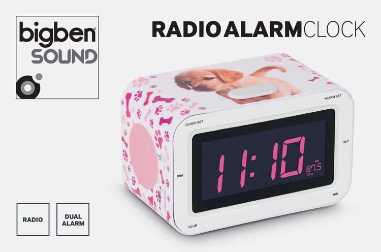Radiowecker RR30 - Dogs II (LCD-Display dimmbar), RadioAlarmCloc