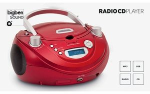 Radio CD-Player CD56USB, Top-Lader, tragbar, weiss