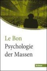 Psychologie der Massen in großer Schrift