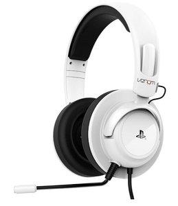 VENOM - Vibration Stereo Gaming Headset, Kopfhörer mit Mikrofon, für PS3/PS4, weiss (OFFICIALLY LICENSED)