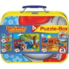 Benjamin Blümchen. Puzzle-Box 2 x 26, 2 x 48 Teile