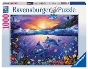 Ravensburger 19040 - Delfine im Paradies, Puzzle, 1000 Teile