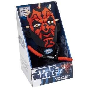 Joy Toy 100478 - Star Wars: Darth Maul, sprechender Plüsch, 23 c