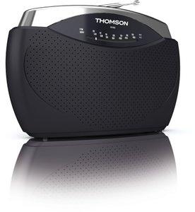 Thomson Analog-Radio RT222 AM/FM, schwarz/silber
