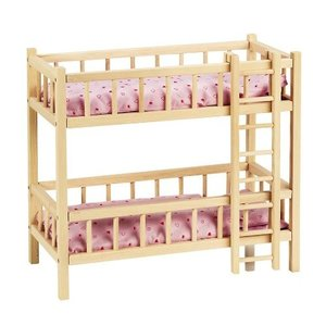 Goki RA206 - Puppenbett mit 2 Etagen, Etagenbett, mit Leiter, Bu